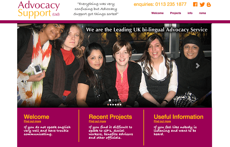 advocacy web design Wakefield